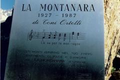 """1987 - Targa Ricordo """"60 anni montanara"""" Pian della Mussa"""