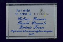 """2010 - Targa Ricordo dai """"50 enari"""" per i coristi"""