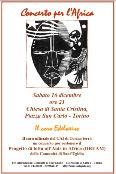 2006 - Torino, Cheisa S.Cristina, concerto benefico per l'Africa